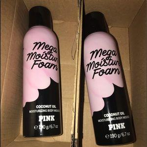 Bundle of 2 - PINK VS Mega Moisture Foam NIB